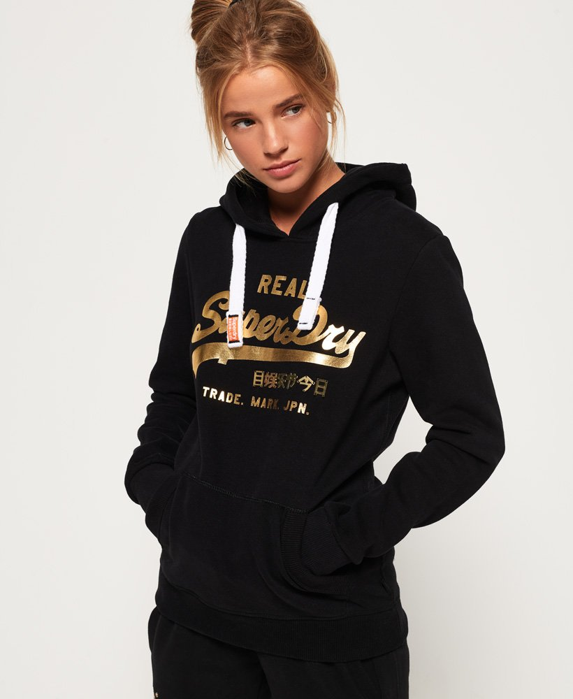 competitive price 29ded dd792 Superdry Vintage Logo Metalwork Hoodie - Damen Hoodies