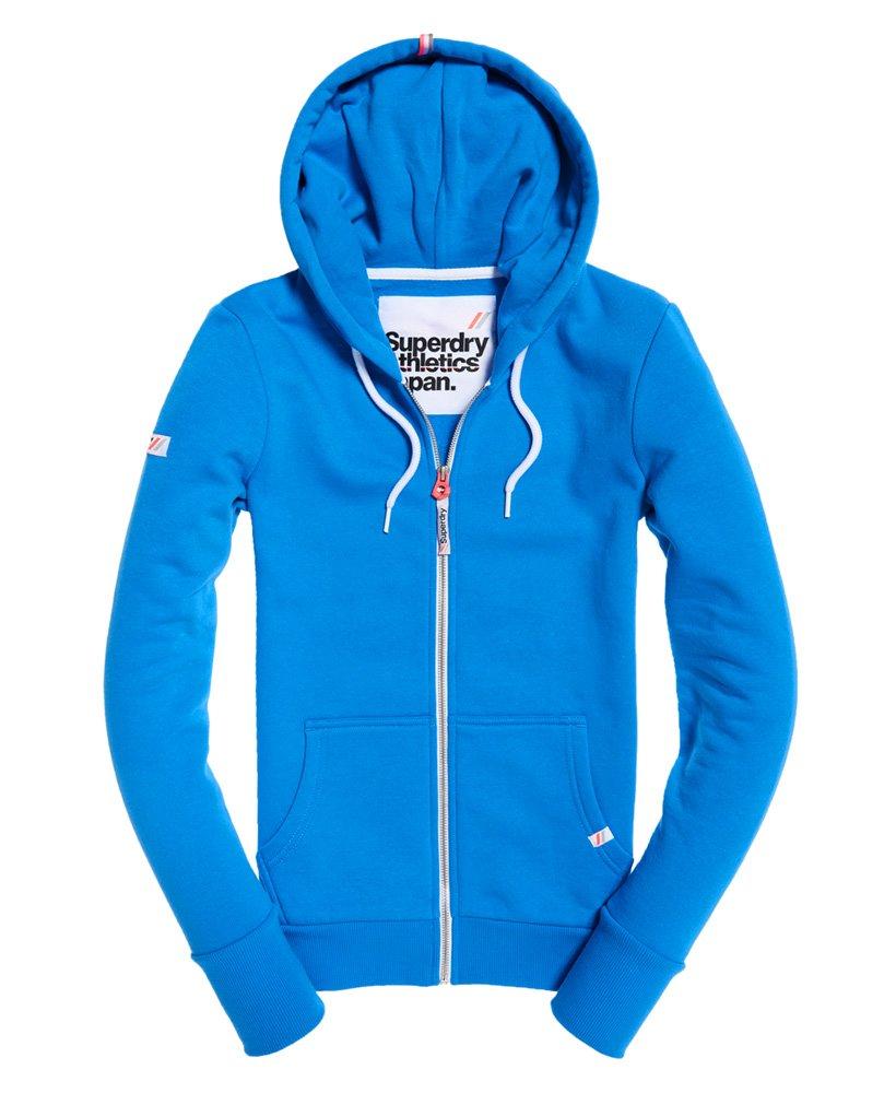 SUPERDRY Superdry Womens LA Athletic Zip Hoodie Trady Blue