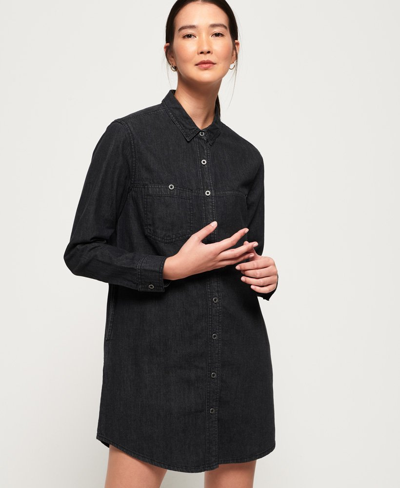 Superdry Oversized Denim Shirt Dress thumbnail 1