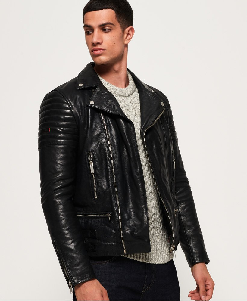 Superdry Premium Classic Leather Jacket thumbnail 1