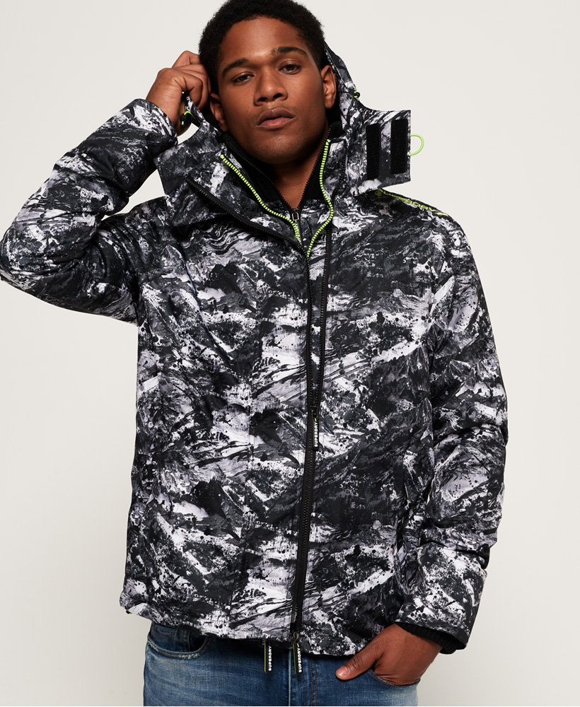 Superdry Arctic Hooded Print Pop Zip SD-Windcheater thumbnail 1