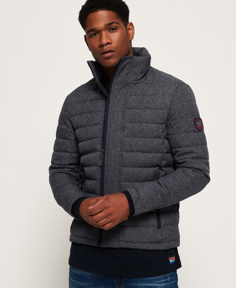 Superdry Tweed Double Zip Fuji Jacket thumbnail 1