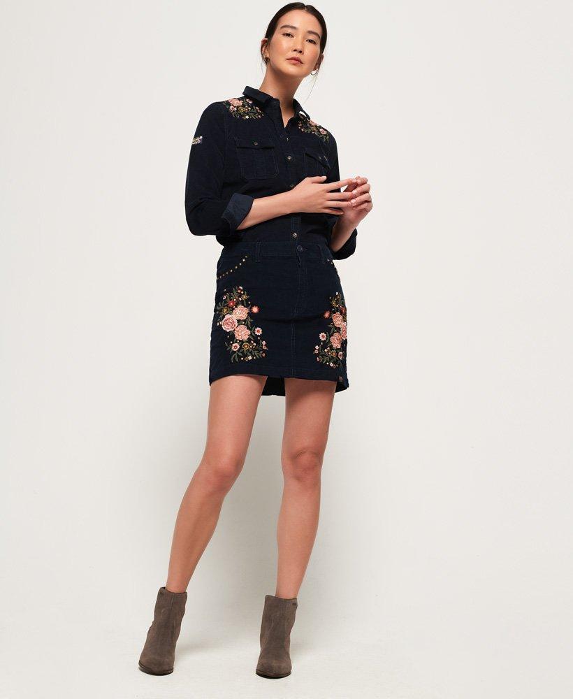 Superdry Grace Cord skjorte Dame Skjorter