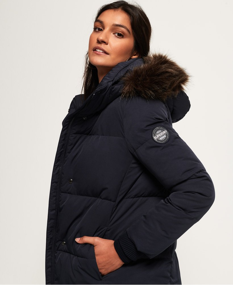 414740d04 Womens - Cocoon Parka Jacket in Super Dark Navy | Superdry