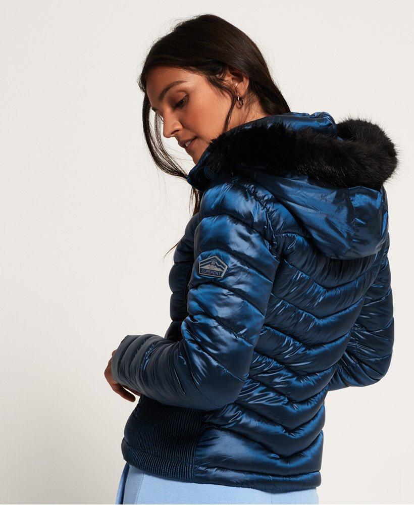 Superdry Luxe Chevron Fuji Jacke mit Kapuze Damen Jacken