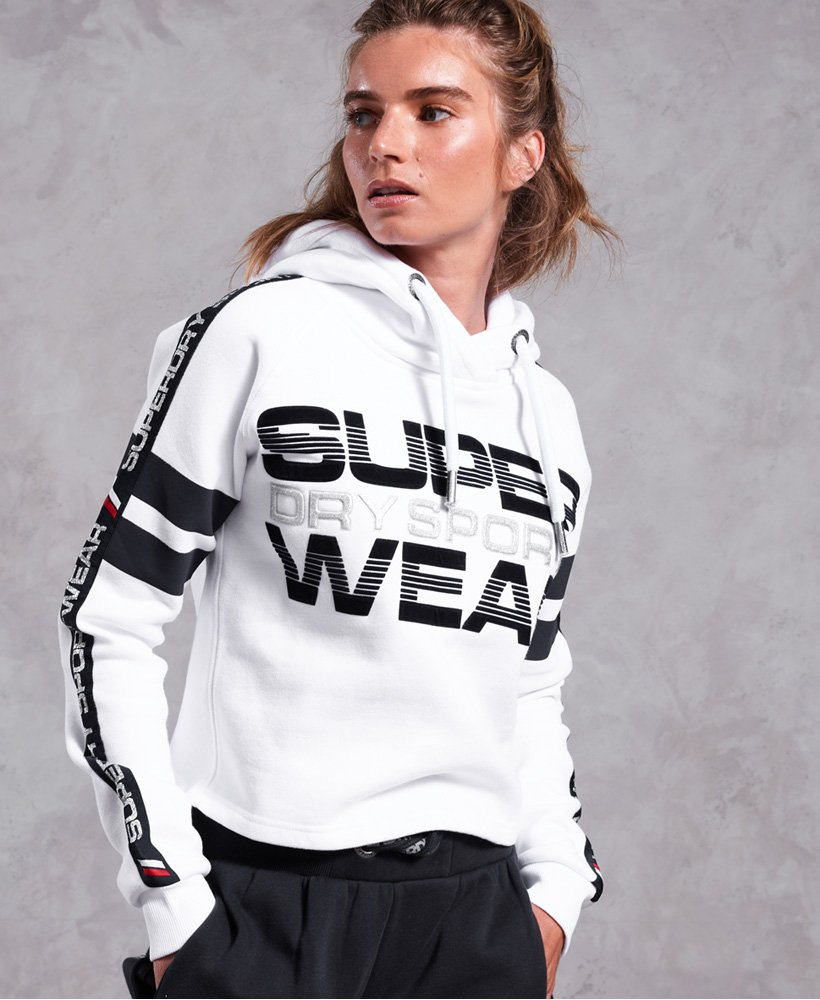 Superdry Repeater Cropped Hoodie thumbnail 1