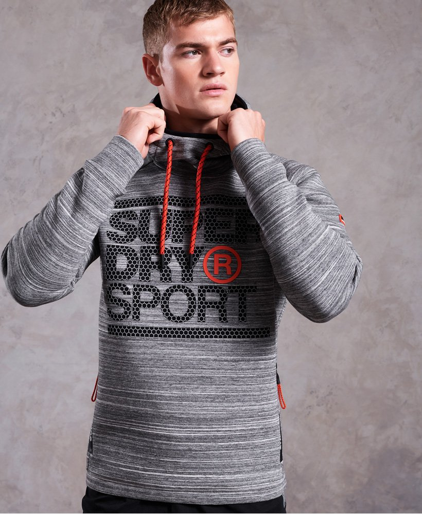 Superdry Gym Tech Stretch Graphic Hoodie thumbnail 1
