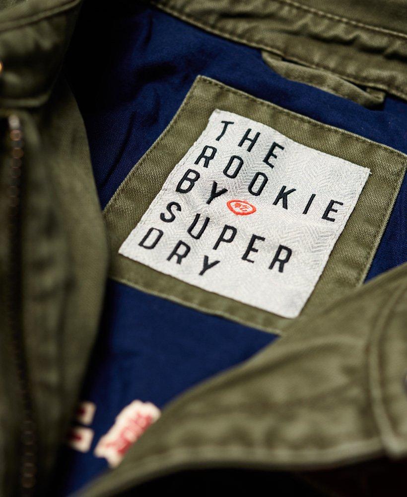 6882371e9 Womens - Rookie Varsity Jacket in Washed Khaki | Superdry
