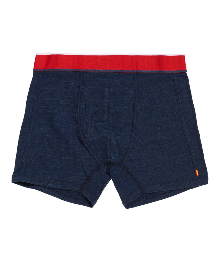 Superdry Tipped Sport Boxer Double Pack INDIGO BLUE GRIT//RACING RED