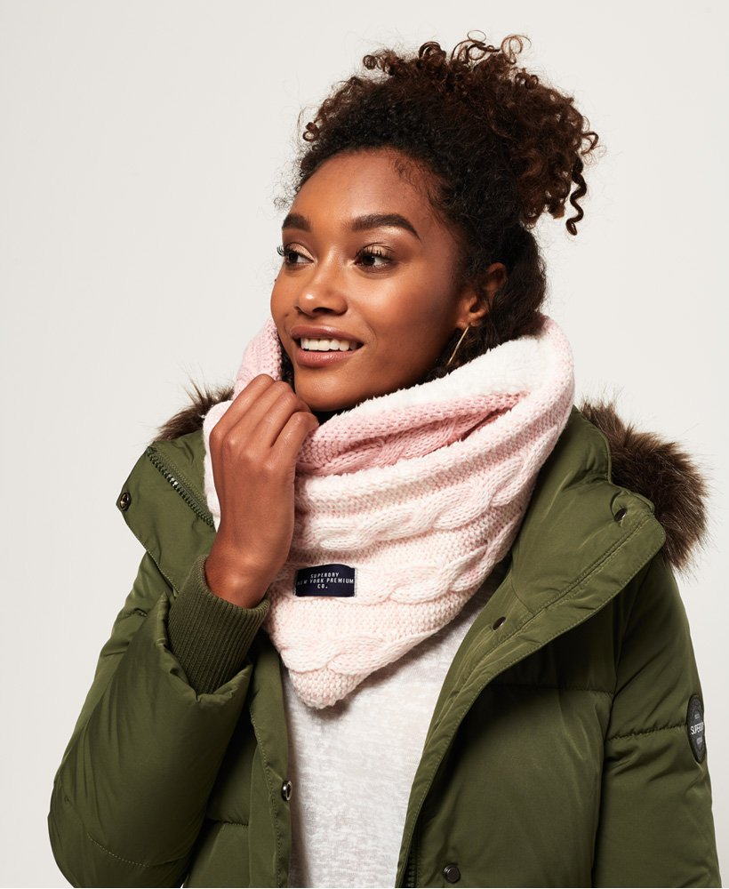 Superdry Clarrie Cable Knit Snood thumbnail 1