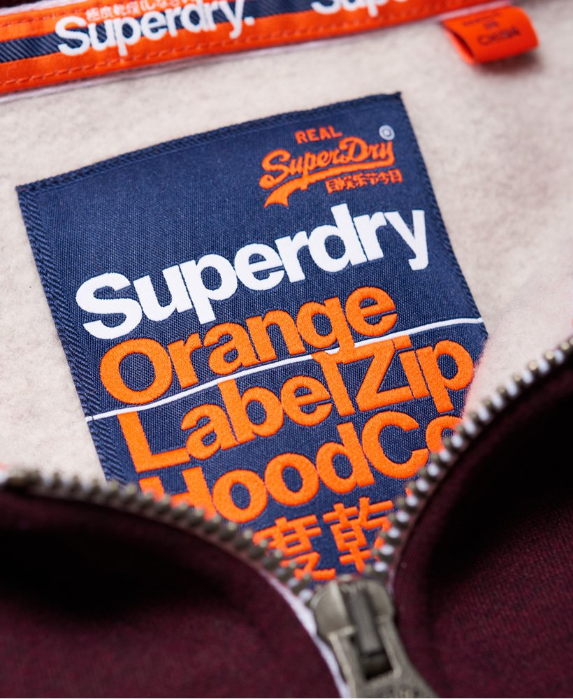 00a1902b2bdb Superdry Label Zippée À Orange Sweats Capuche Veste wwOXAr