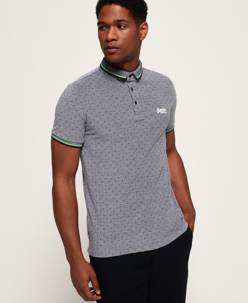 Superdry City Jacquard All Over Print Polo Shirt thumbnail 1