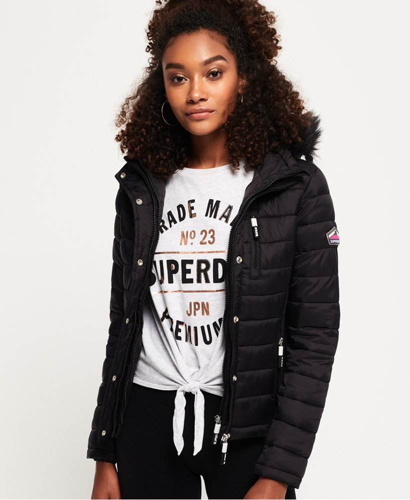 Superdry Fuji Slim Double Zip Hooded Jacket Women's