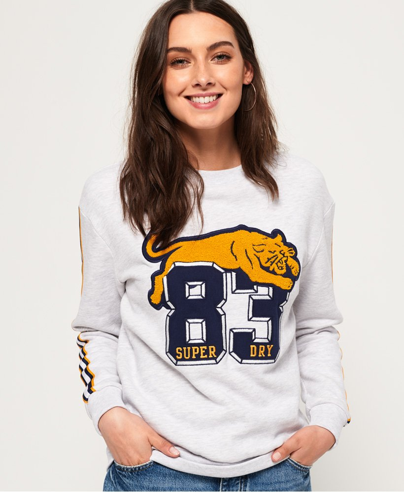Superdry Emilie Applique Crew Jumper thumbnail 1