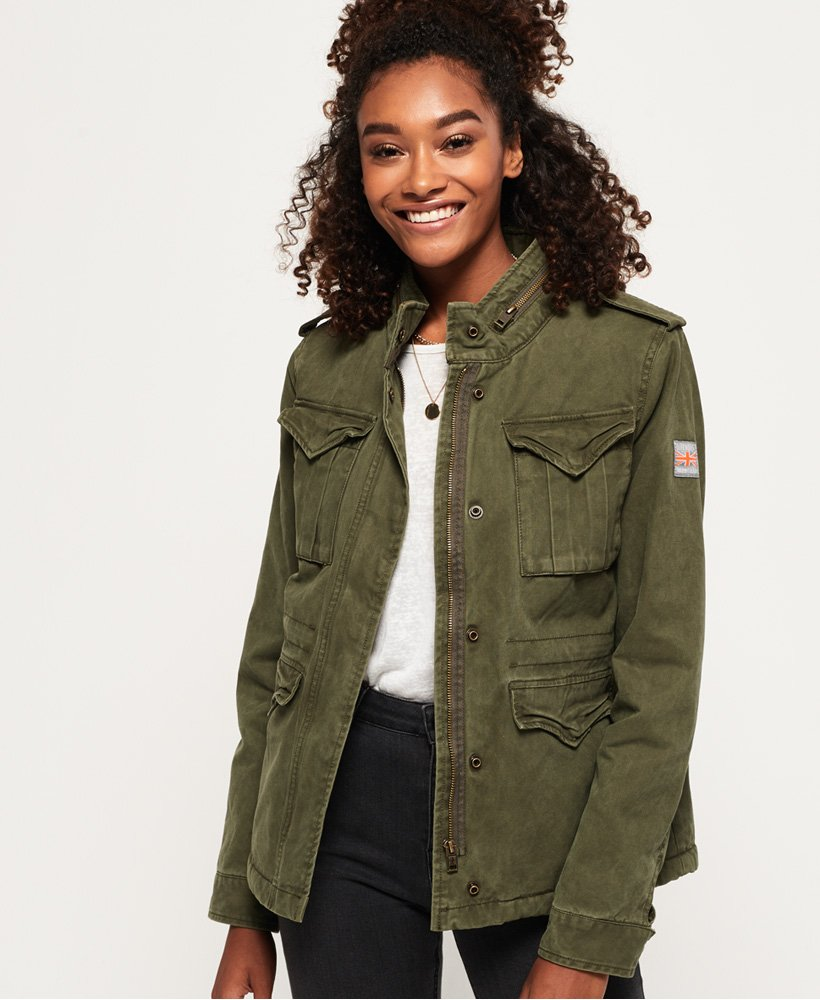 Superdry Classic Sheerpa Rookie Military Jacket thumbnail 1