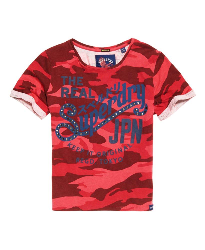 Haut Femme Superdry Dry Camo Surdimensionné T-Shirt