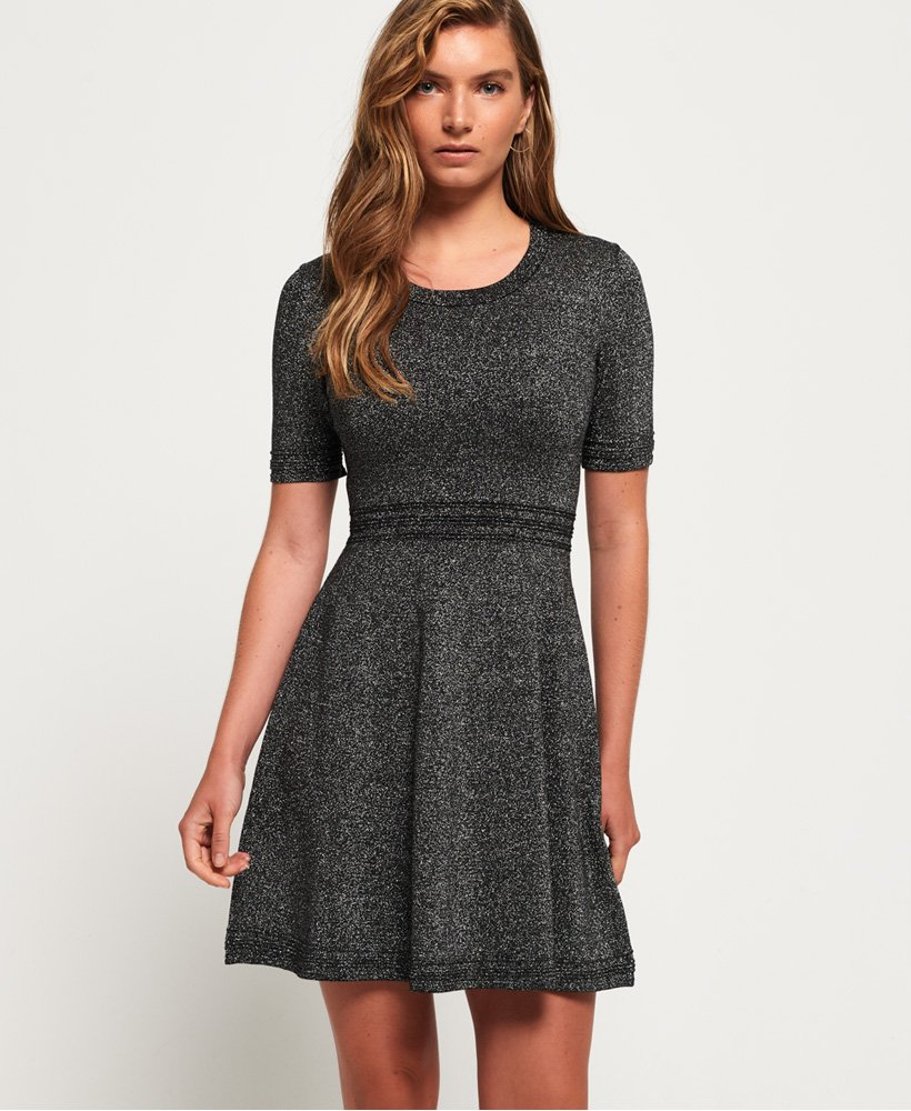 Superdry Riley Fit & Flare Knitted Dress thumbnail 1