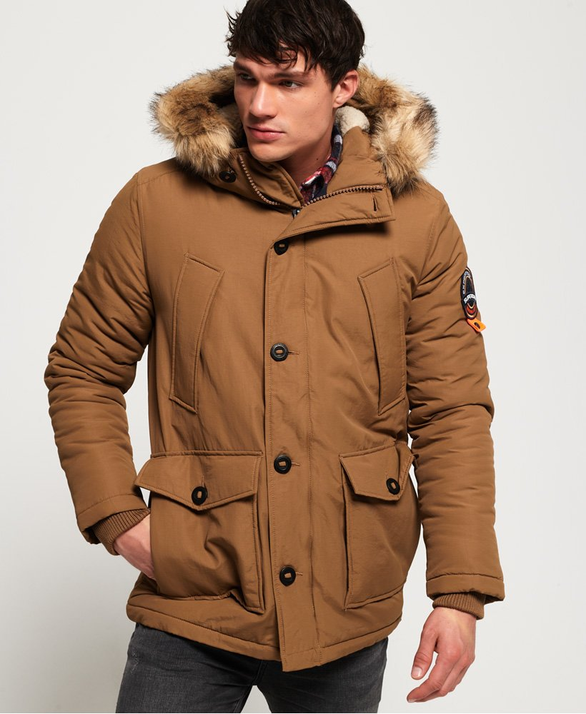 Mens Brown Parka Jacket