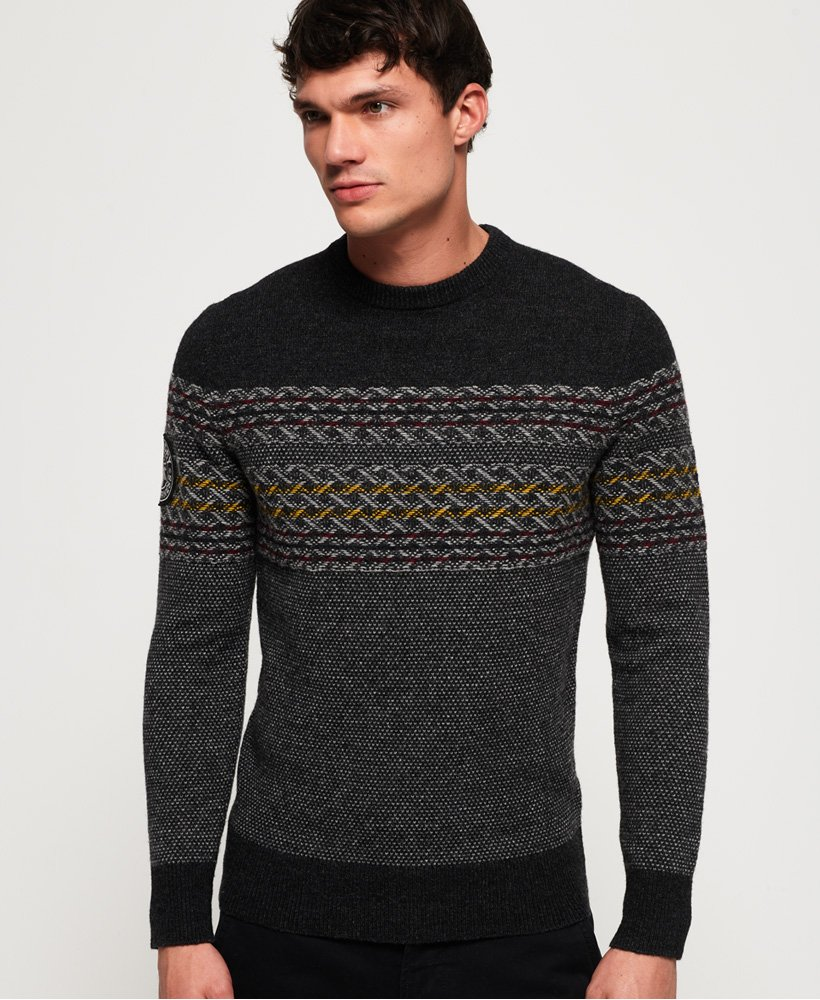 Superdry Falster Fairisle Crew Jumper thumbnail 1