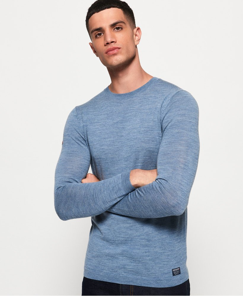 Col Homme À Pour Pull Rond Merino Superdry Pulls 86EBnqcW