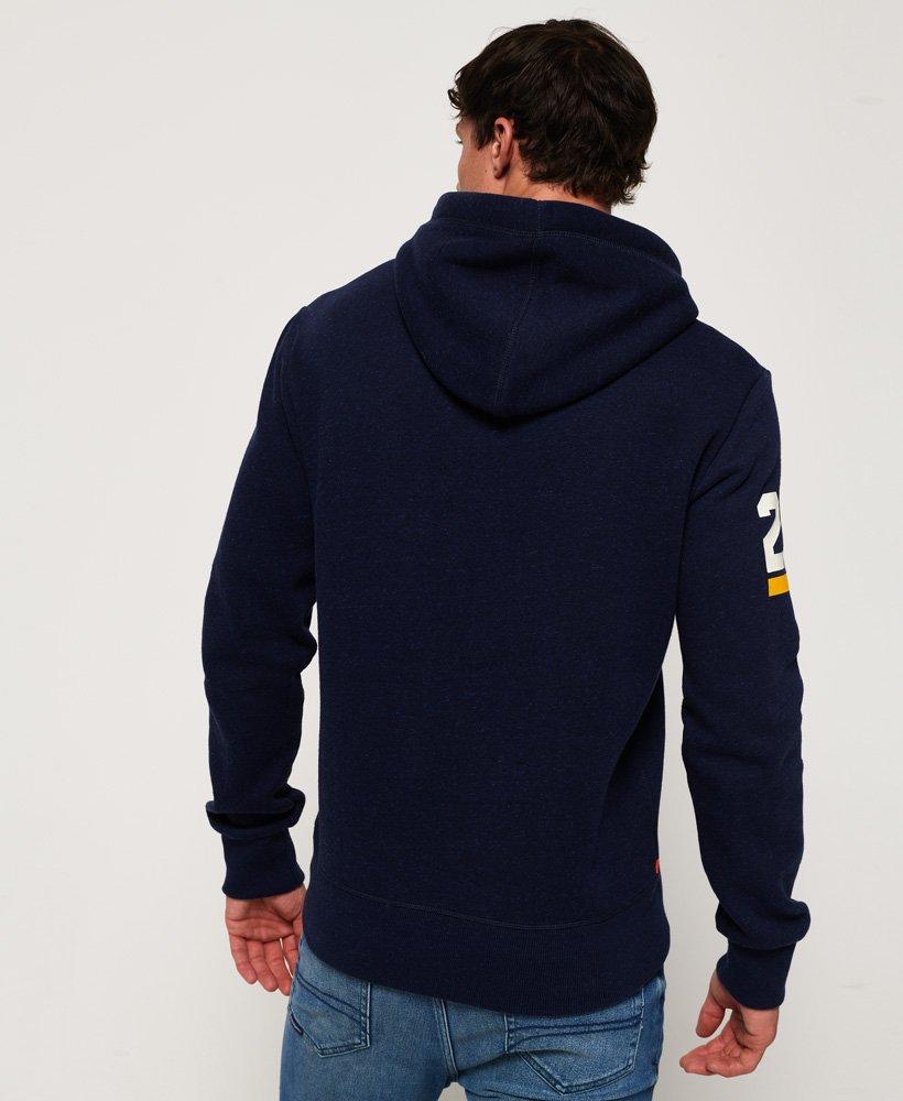 Superdry Sweater Herren VINTAGE LOGO TRI HOOD Montana Blue Grit