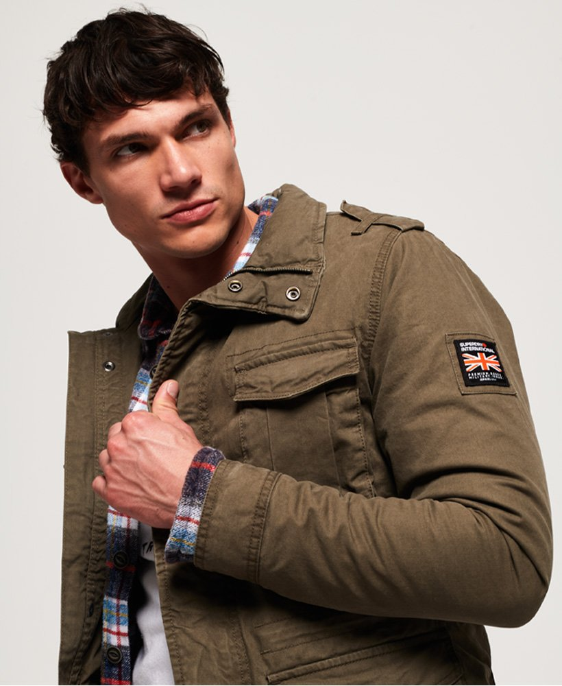 superdry giacca classic rookie military khaki
