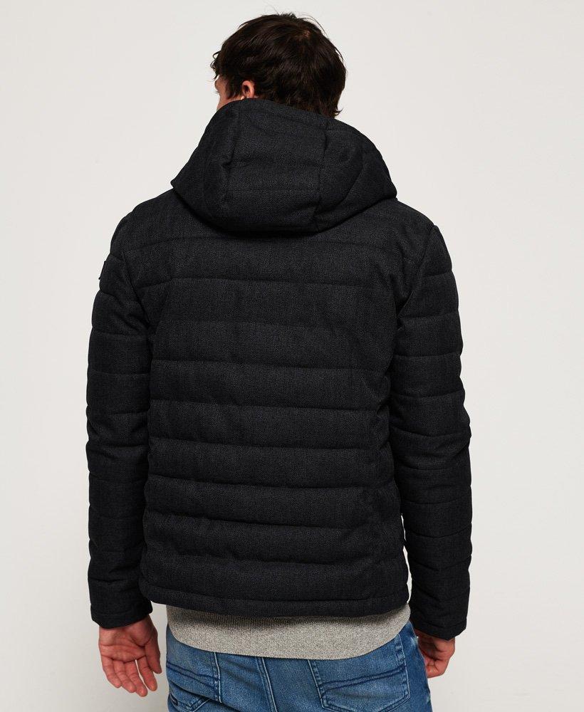 Superdry Tweed Fuji jakke med hætte og dobbelt lynlås