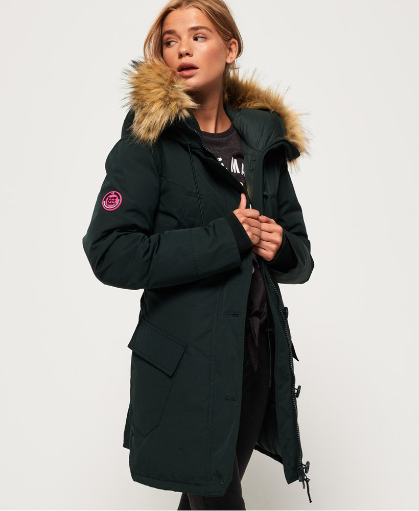 393a860a14c Womens - Rookie Down Parka Jacket in Deep Forest | Superdry