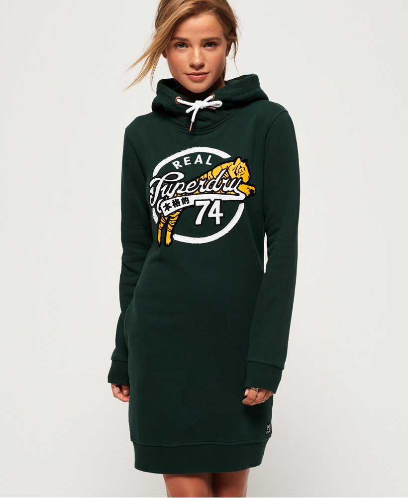 Superdry Harper Hooded Sweat Dress thumbnail 1