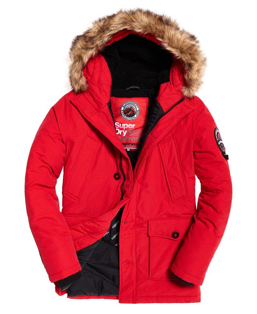Mens Everest Parka Jacket in Red | Superdry