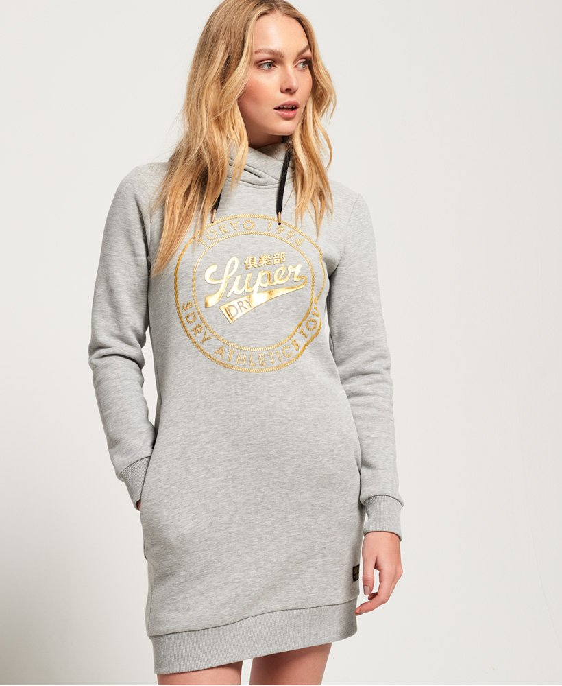 Superdry Ace Sweatkleid mit Kapuze