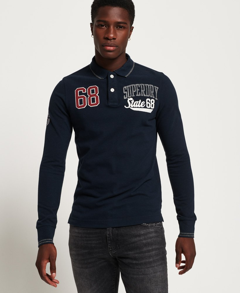 Superdry Classic Superstate Long Sleeve Polo Shirt thumbnail 1
