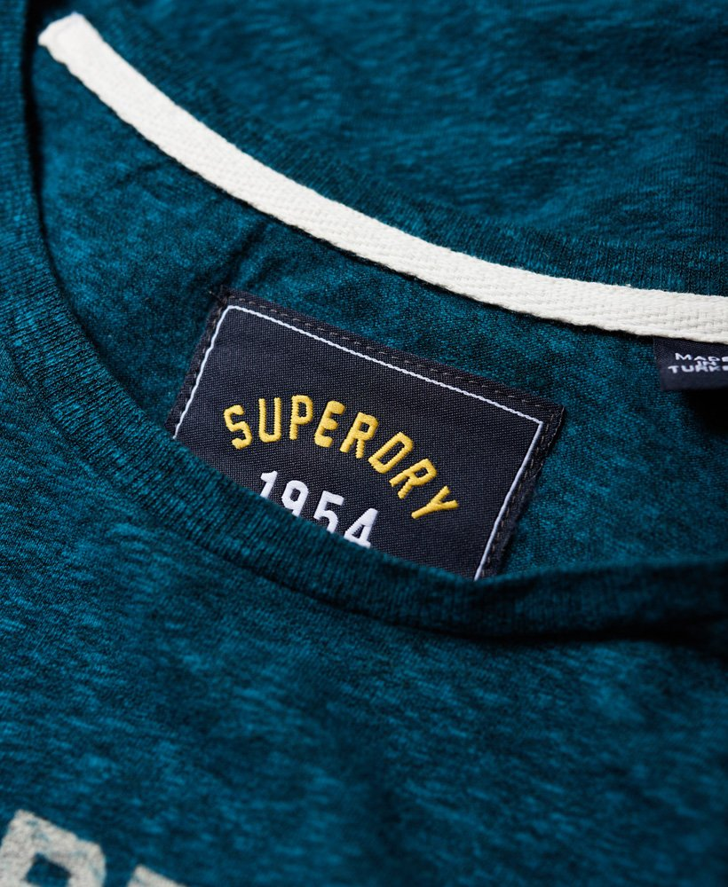 Neues Damen Superdry Vintage Logo T-Shirt Rugged Atlantic Deep Teal