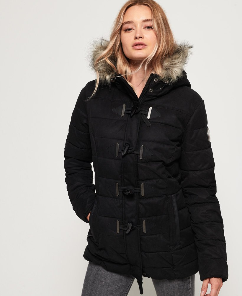 Superdry Microfibre Tall Toggle Parka Jacket thumbnail 1