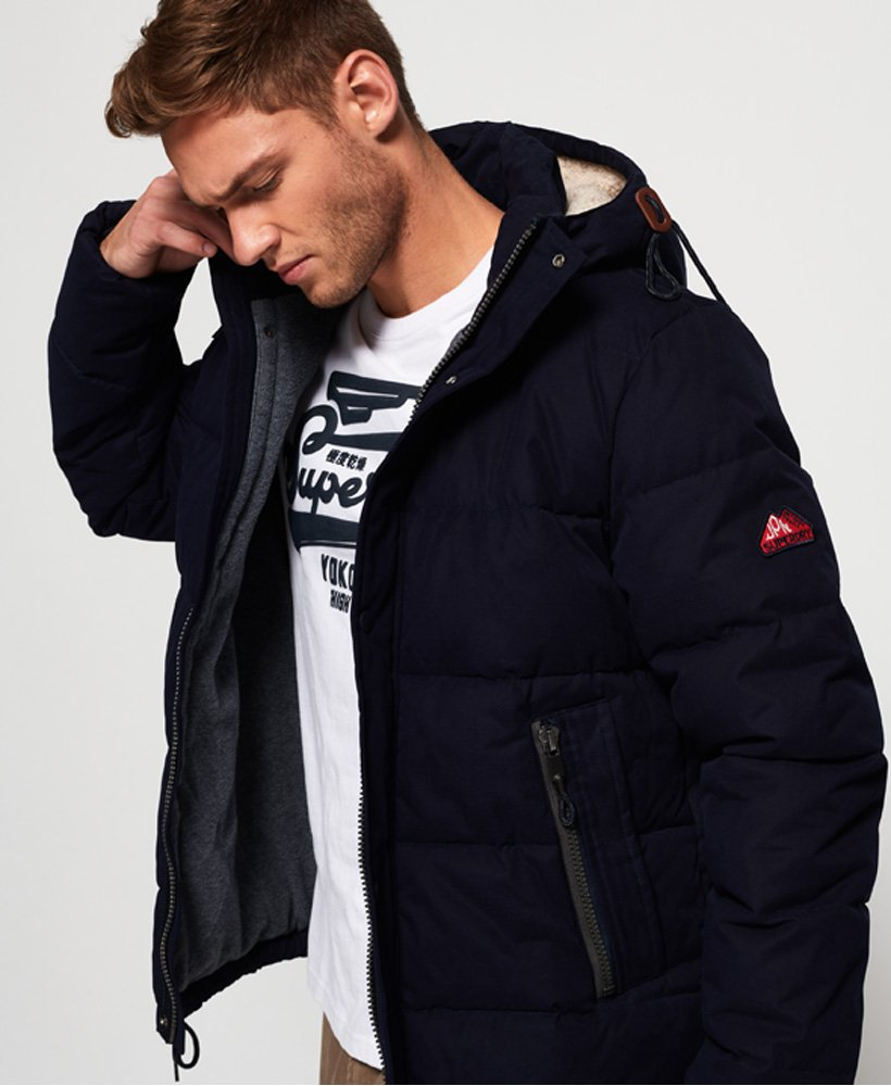 NEW Superdry Superdry MENS NEW ACADEMY HOODED JACKET MIDNIGHT NAVY