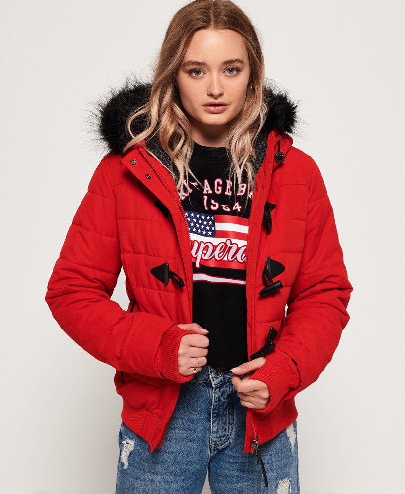 Superdry Microfibre Toggle Puffer Jacket thumbnail 1