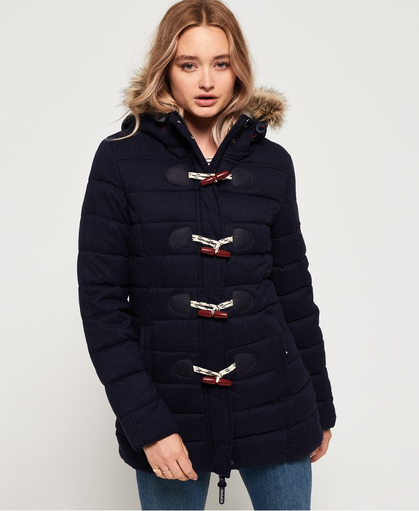 Superdry Tall Marl Toggle Puffle Jacket thumbnail 1
