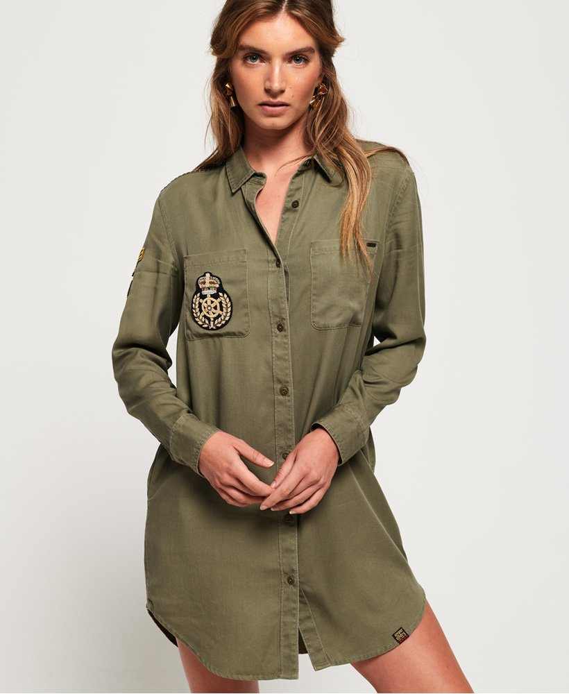 Superdry Robe chemisier militaire Cora