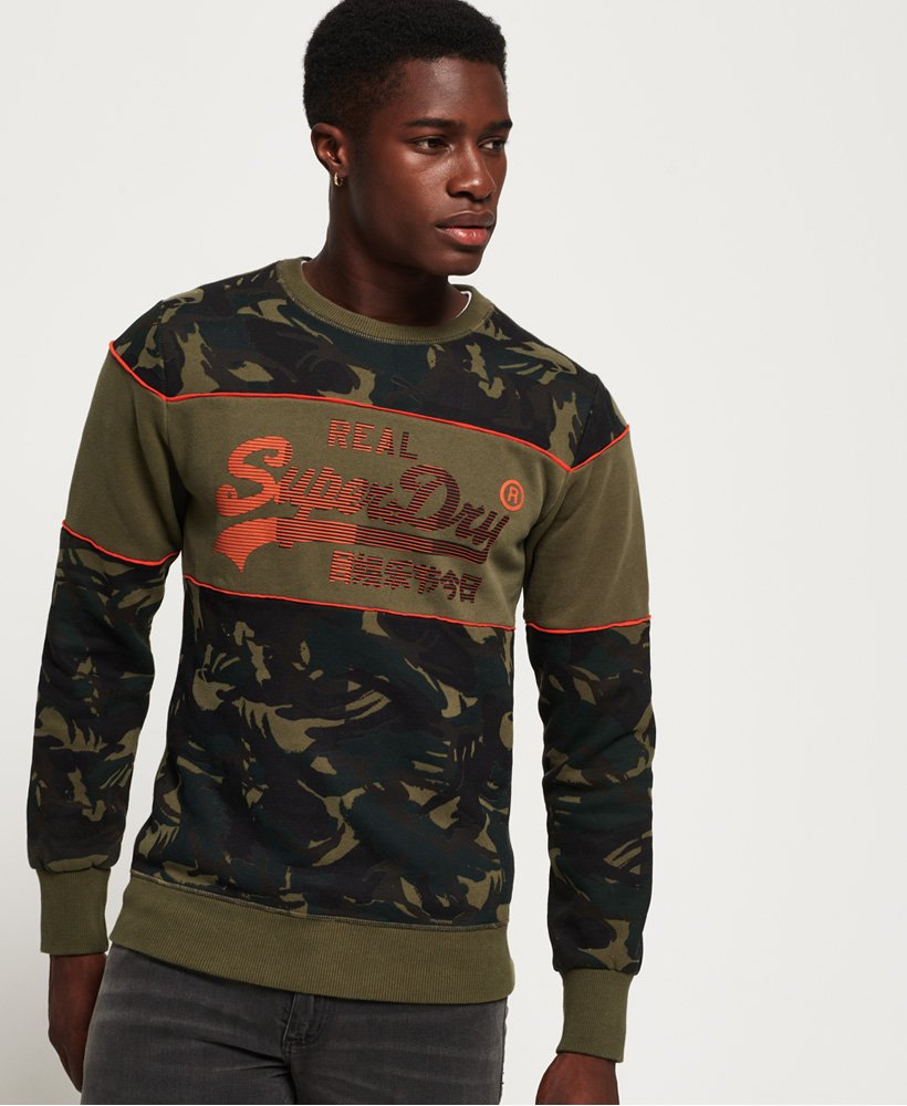 Superdry Vintage Logo Camo Panel Sweatshirt
