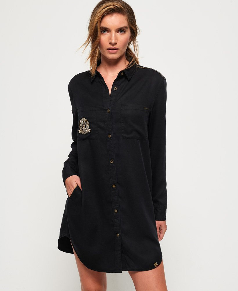 Superdry Cora Military Shirt Dress  thumbnail 1