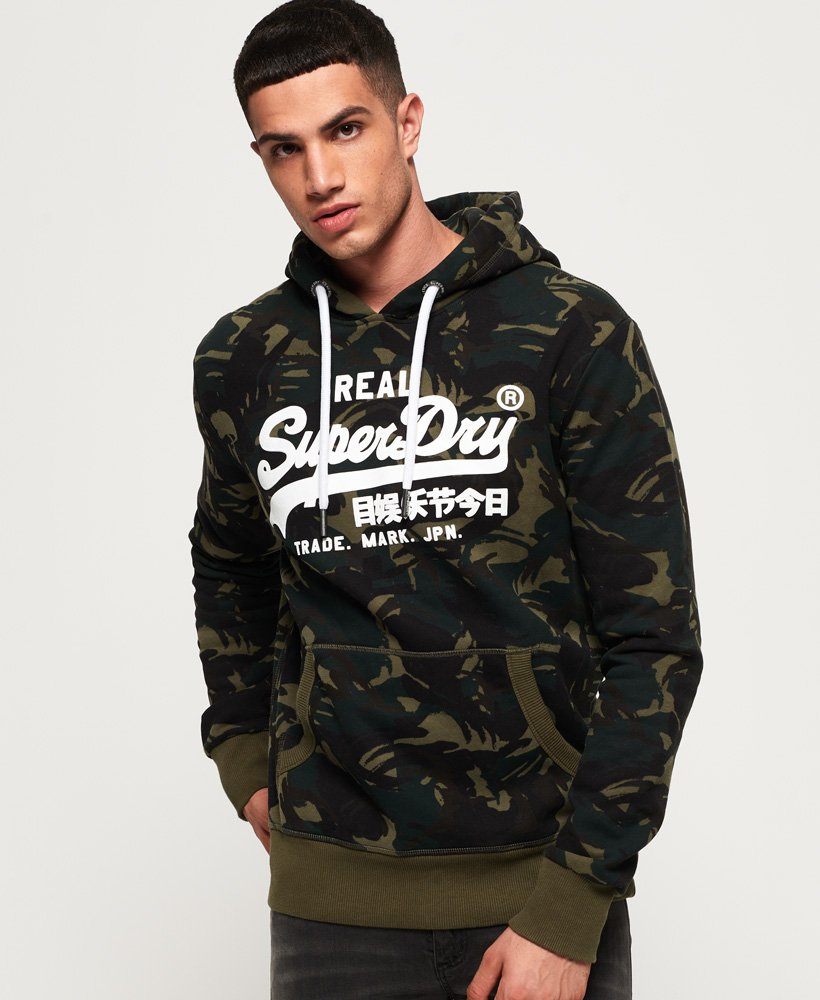 Superdry Vintage Logo Camo Hoodie thumbnail 1