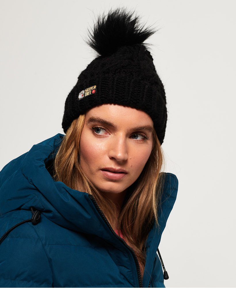 Superdry Gorro en punto trenzado Chic Regal