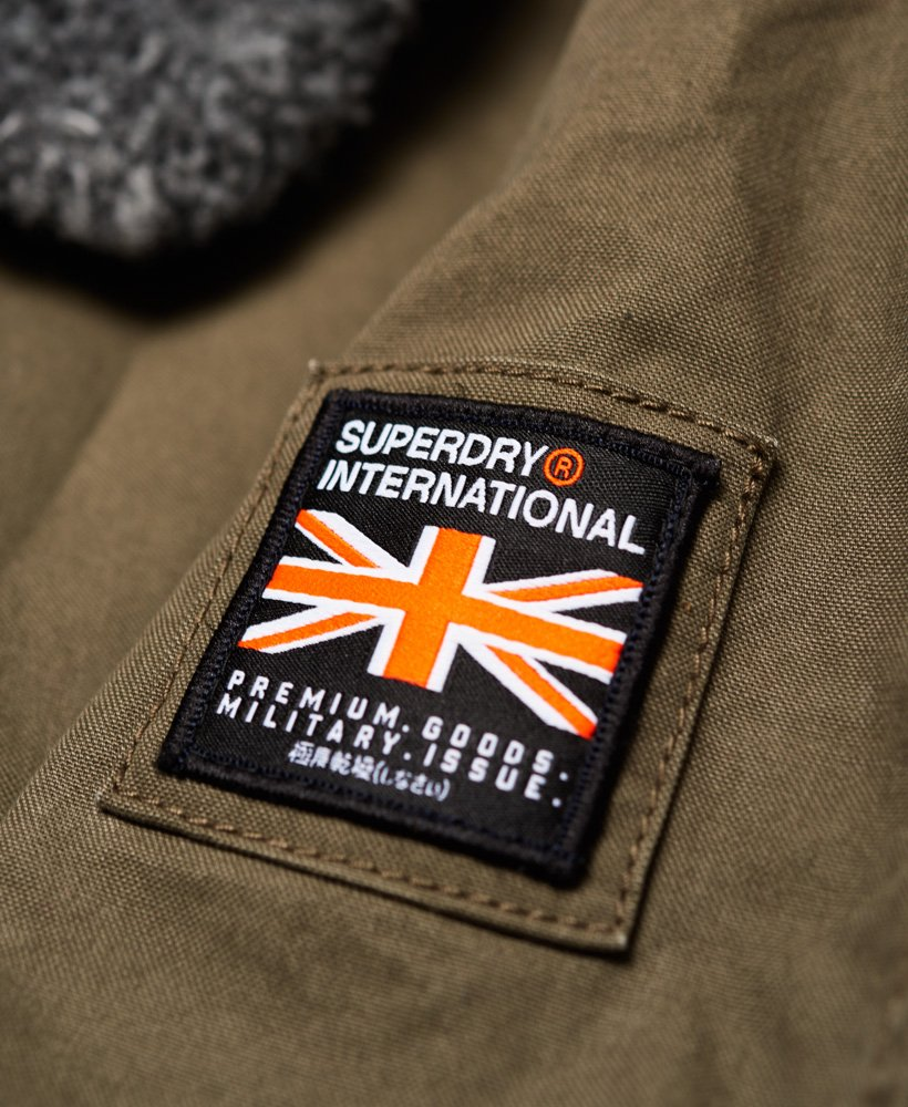 New Mens Superdry  Rookie Winter Aviator Bomber Military Jacket-RRP £90