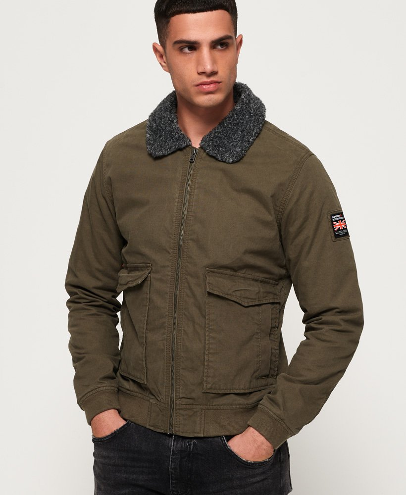 Superdry Rookie Winter Aviator Bomber Jacket thumbnail 1
