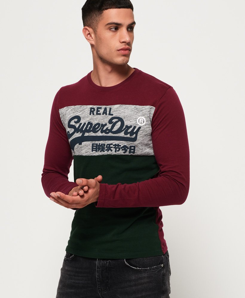 Superdry Vintage Logo Panel Long Sleeve T-Shirt thumbnail 1