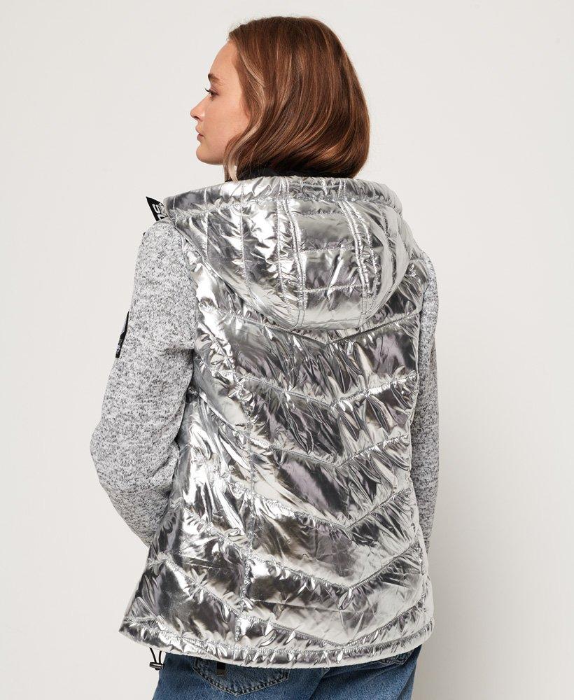 Superdry Storm Hybrid Metallic Zip Hoodie Women's Hoodies