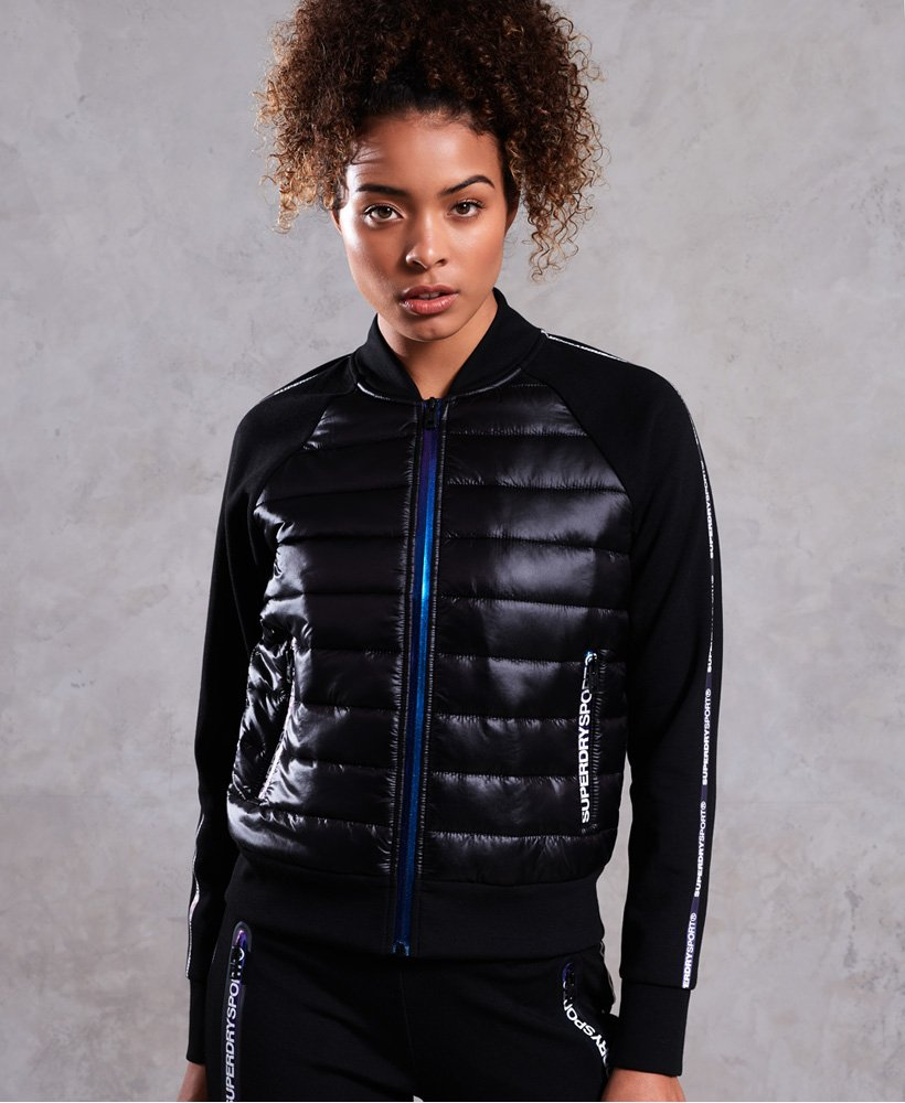 Superdry Core Gym Tech Hybrid Bomber Jacket  thumbnail 1
