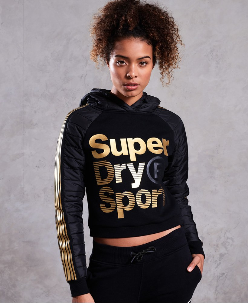 Superdry Gymtech Gold Hybrid Hoodie thumbnail 1