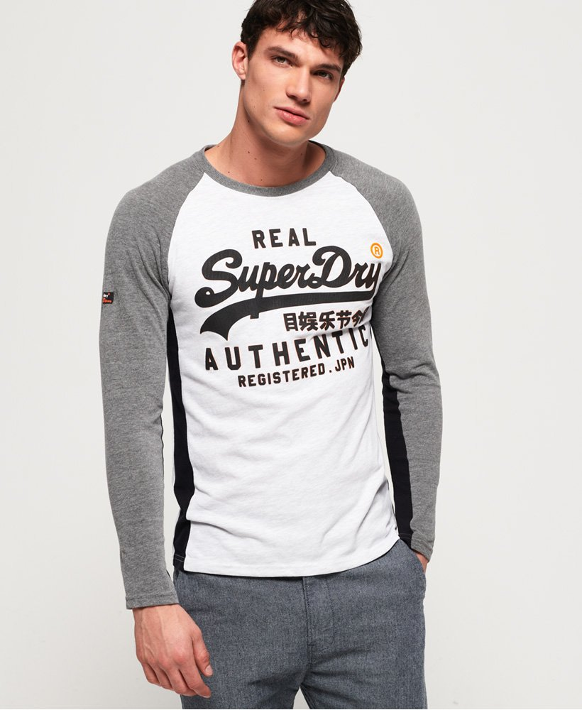 Superdry Vintage Logo Raglan Long Sleeve T-Shirt thumbnail 1