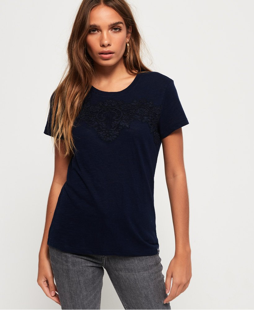 Superdry Lex Lace Panelled Top  thumbnail 1